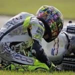 Rossi, caduta a Indianapolis. Foto